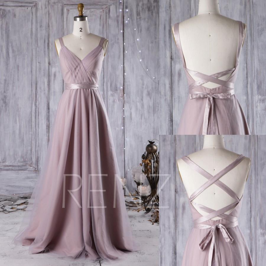 Mariage - 2016 Thistle Bridesmaid Dress, A Line Wedding Dress, Mesh Draped Prom Dress, Backless Evening Gown, Long Formal Dress Floor Length (JS081)