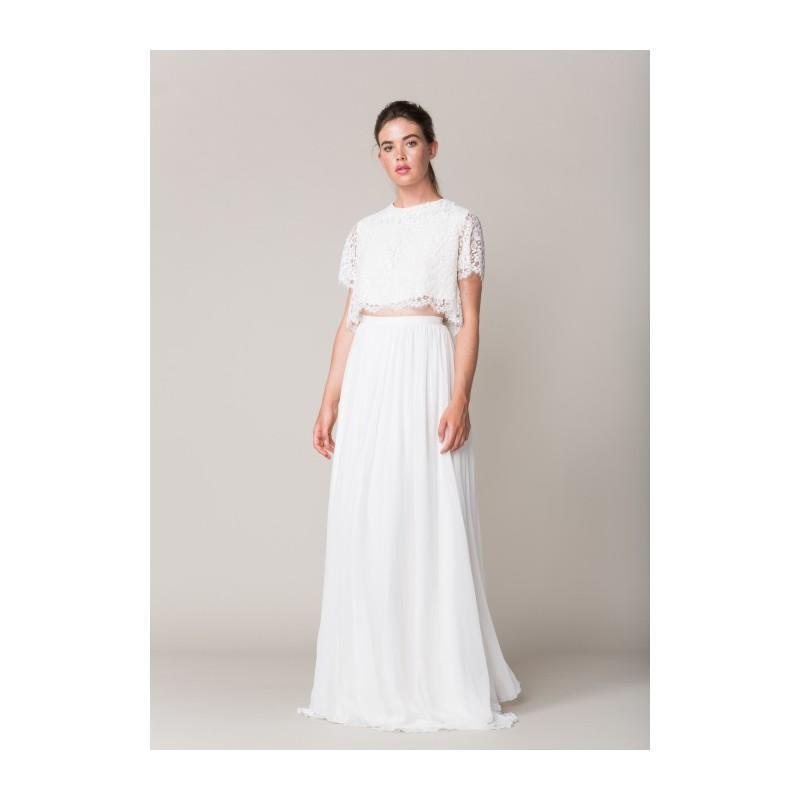 Mariage - Sarah Seven delancey crop lace -  Designer Wedding Dresses