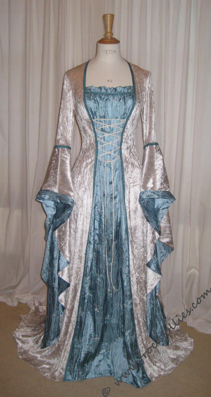Wedding - ISABELLA, a Renaissance, Medieval, Pre-Raphaelite  Wedding Gown, LARP or Prom Dress