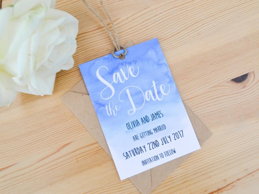 Mariage - Watercolour Save the Date - Handmade Rustic Wedding Stationery