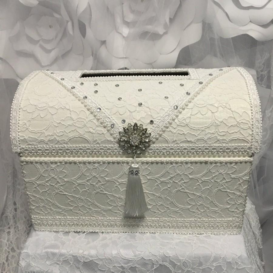 Treasure Chest Money Box/wedding Card Box/ivory Wedding Card Box ...