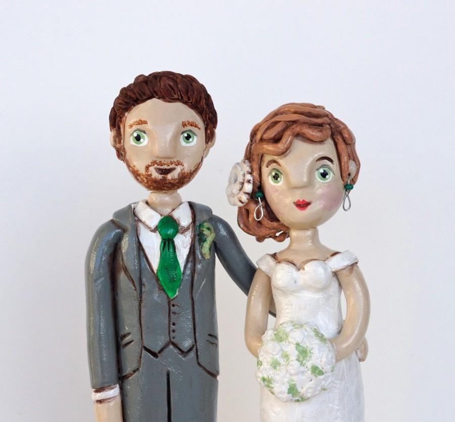 Mariage - Custom Couple Personalized wedding cake topper