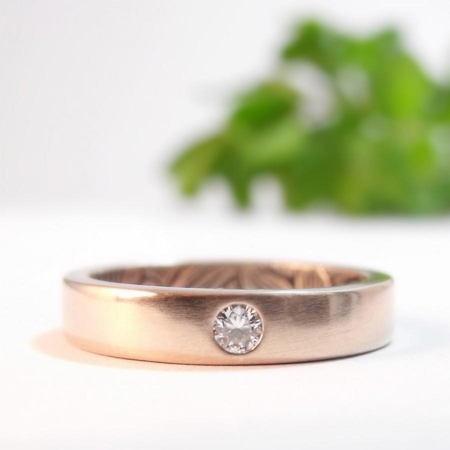 Hochzeit - Diamond Engagement Ring, Womens Wedding Band, Rose Gold Wedding Ring, Diamond Ring, Opposites Attract Sunflower Womens Wedding Ring