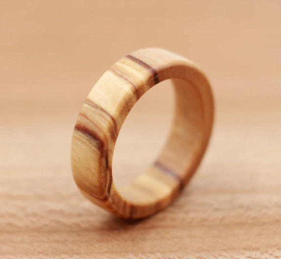 Mariage - Olivewood Ring - Custom Wood Ring - Unique Wedding Ring - Wedding Ring - Wooden Ring - Mens Jewelry - 5 Year Anniversary
