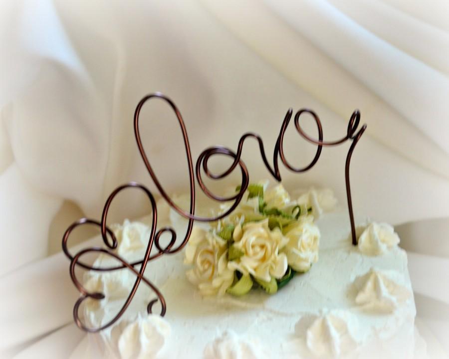 Mariage - Rustic Cake Topper, Autumn Wedding Decor