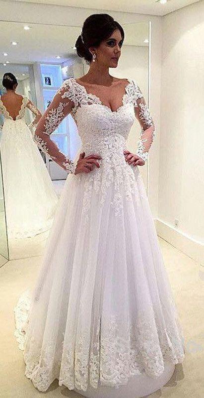 Wedding - Open Back Floor Length Bridal Gowns