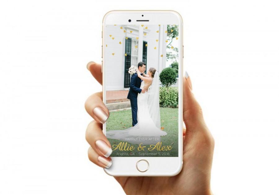 Mariage - Confetti Hearts- Custom Snapchat Filter-Snapchat Geofilter- Wedding