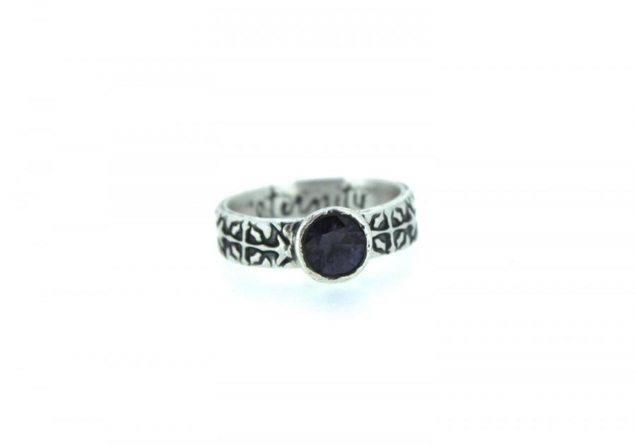Wedding - SALE spinel gemstone engagement ring . unique engagement ring . purple alternative engagement ring by peacesofindigo . ready to ship size 7