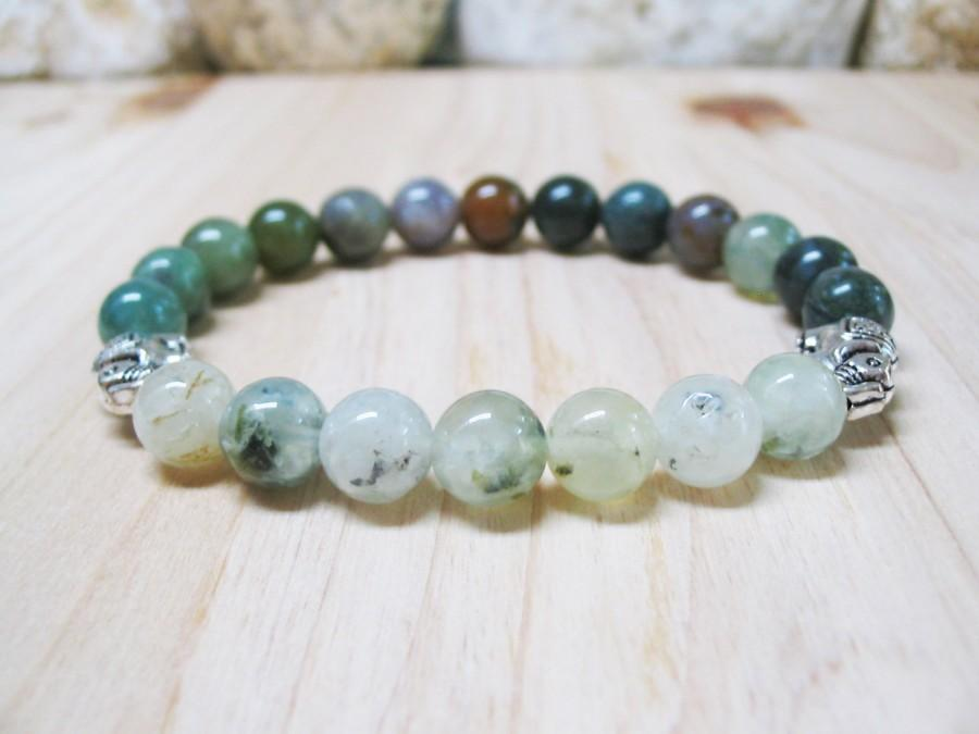 green meditation mala com amazon agate moss dp gemstone yoga genuine bracelet