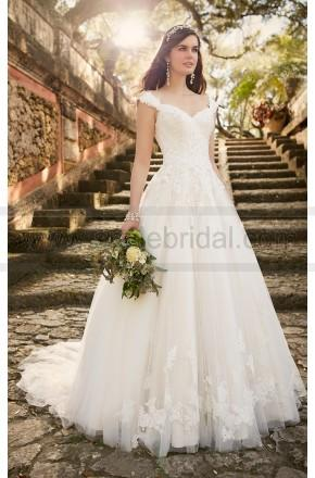 Boda - Essense of Australia Lace Wedding Dress With Cap Sleeves Style D1919 - Essense Of Australia - Wedding Brands