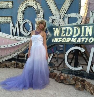Purple Ombre Tulle Wedding Dress Couture Wedding Gown Colored