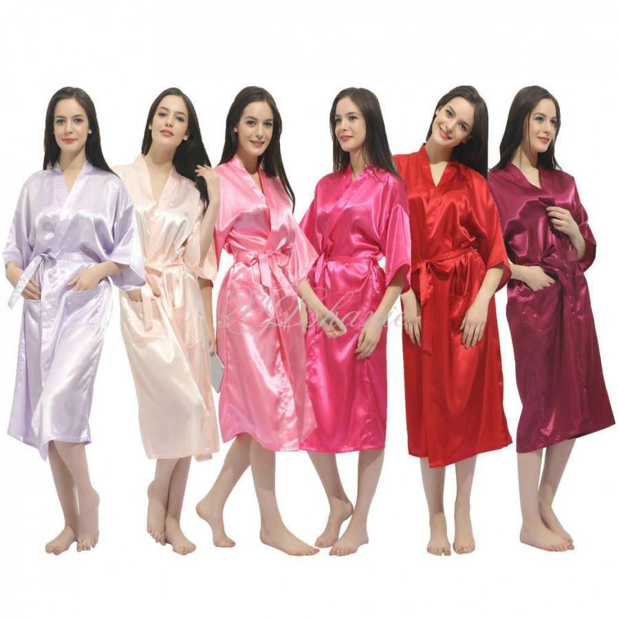 زفاف - Kimono satin robes Bridesmaid robe gift giftes Bridesmaid Robes Bridal Shower Getting ready robes Bridal Party Robes Dressing