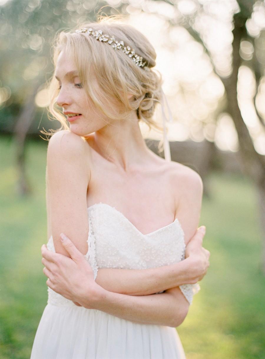 Mariage - Bridal Headband, Wedding Headpiece, Crystal Headband, Crystal Hair Vine, Bridal Hair Vine, Pearl Headband, Bridal Headpiece - Style 505