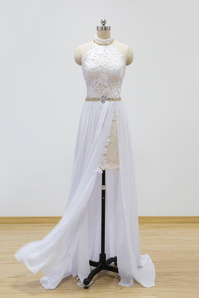 Mariage - lace chiffon prom dress, evening dress, homecoming dress, formal dress