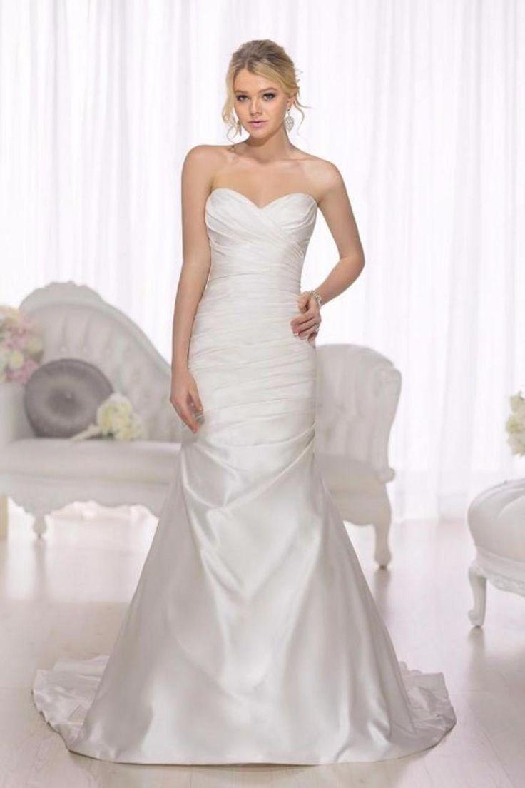 Dress Satin Fit And Flare Wedding Gown 2612486 Weddbook