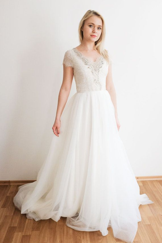 Mariage - Ivory Tulle Wedding Gown// Lavanda