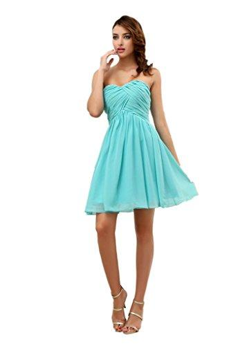 Свадьба - Angelia Bridal Women's Short Sweetheart Chiffon Bridesmaid Dress