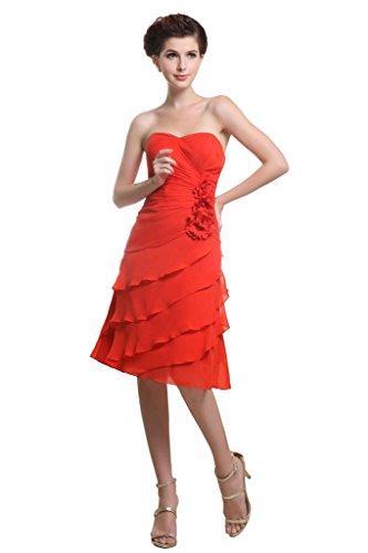 Свадьба - Angelia Bridal Women's Summer Strapless Flower Chiffon Short Evening Cocktail Dress (Size 16)