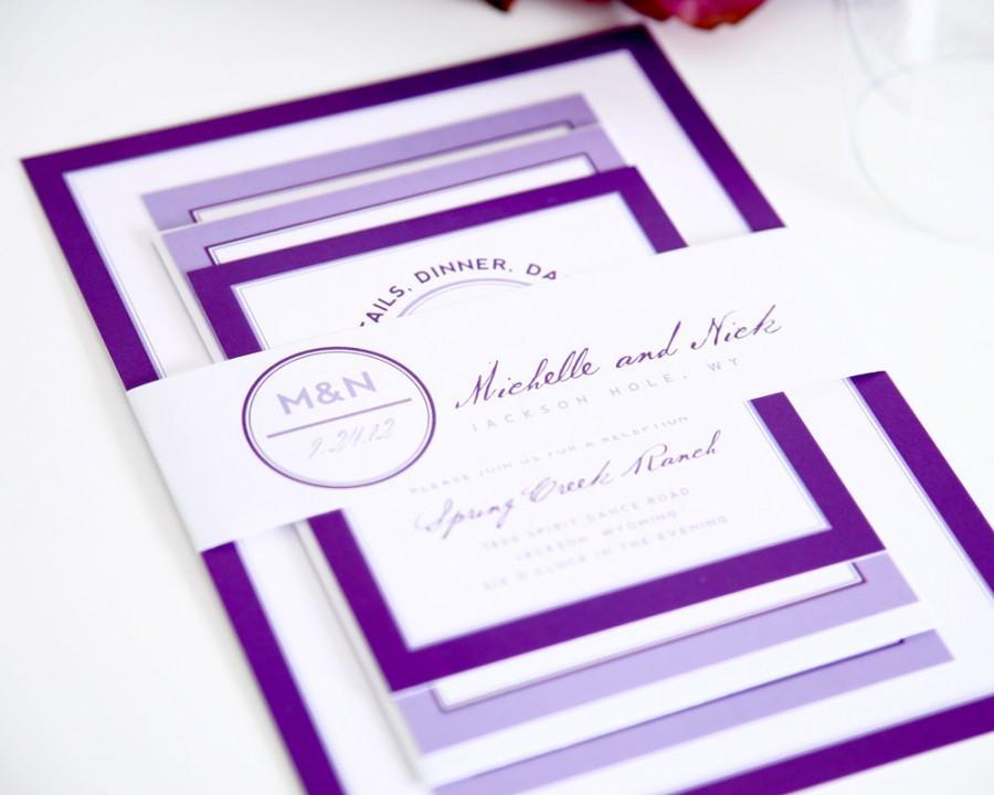 زفاف - Modern Wedding Invitation - Modern Circle Logo Wedding Invitation - Deposit