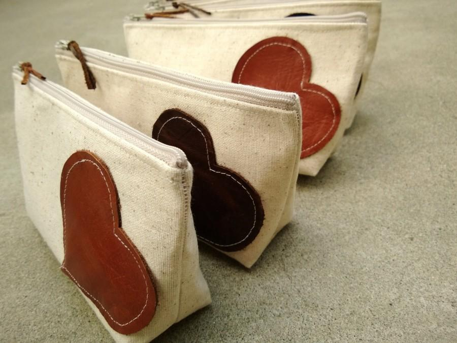 Set Of 8 - Leather Bridesmaid Clutches Rustic Country Wedding Clutch ...