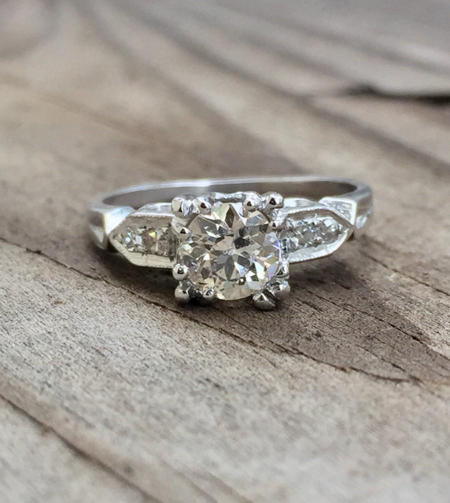 Mariage - Old European cut diamond engagement ring