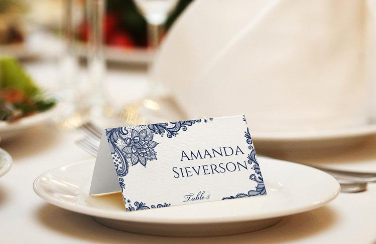 Wedding Place Card Template Download Instantly Editable Text