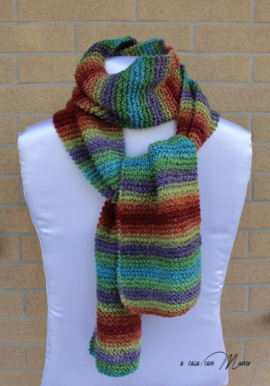 Mariage - Sciarpa lunga, knitted scarf, sciarpa a maglia, handmade scarf,sciarpa multicolor, handmade gift, regalo per lei, handmade, made in Italy