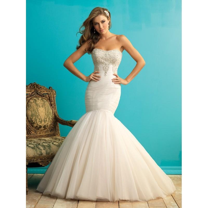 Wedding - Allure Bridals 9258 Strapless Beaded Mermaid Wedding Dress - Crazy Sale Bridal Dresses