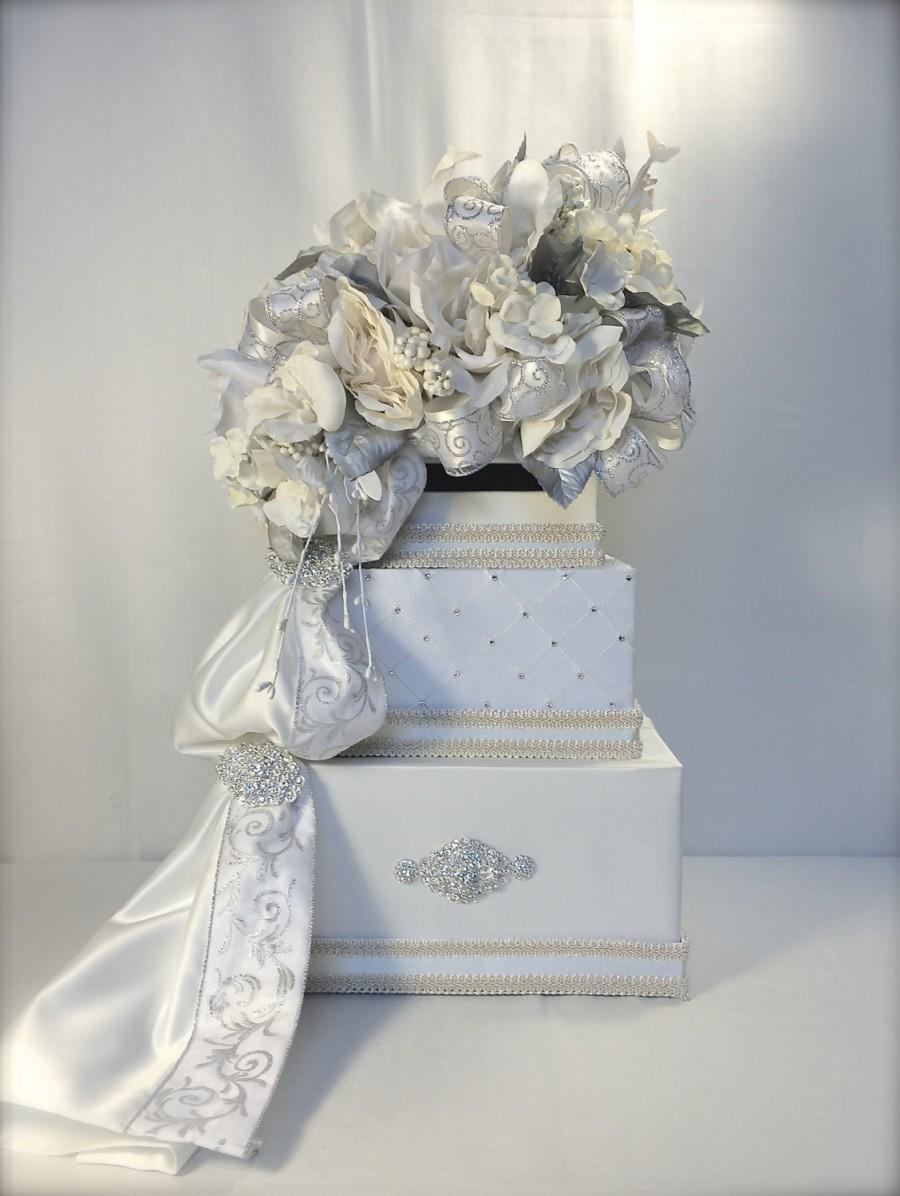 Wedding Card Box Elegant Sophisticated Wedding Card Holder Cream ...
