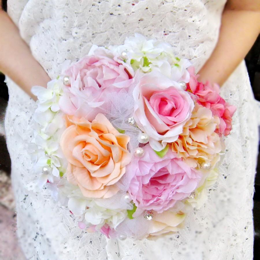 Bridal Bridesmaid Bouquet Rose Peony Flowers Bridesmaid Bouquet Chic