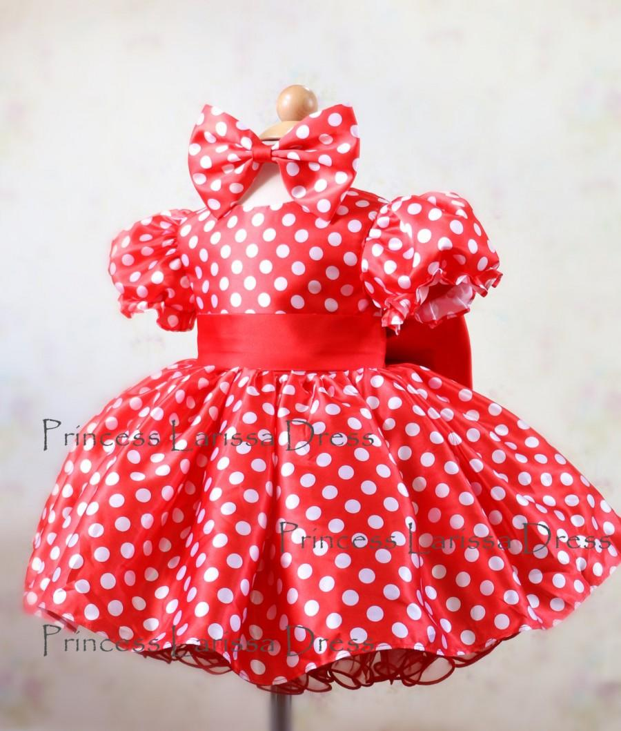 321878fe334 New Design  Minnie Mouse Mickey Inspired Halloween Costume Dress ...