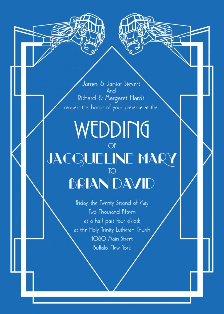 زفاف - Art Deco Wedding Invitation Package