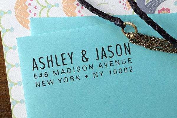 Mariage - custom ADDRESS STAMP with proof from USA, Eco Friendly Self-Inking stamp, rsvp address stamp, custom stamp, custom address stamp, stamper134