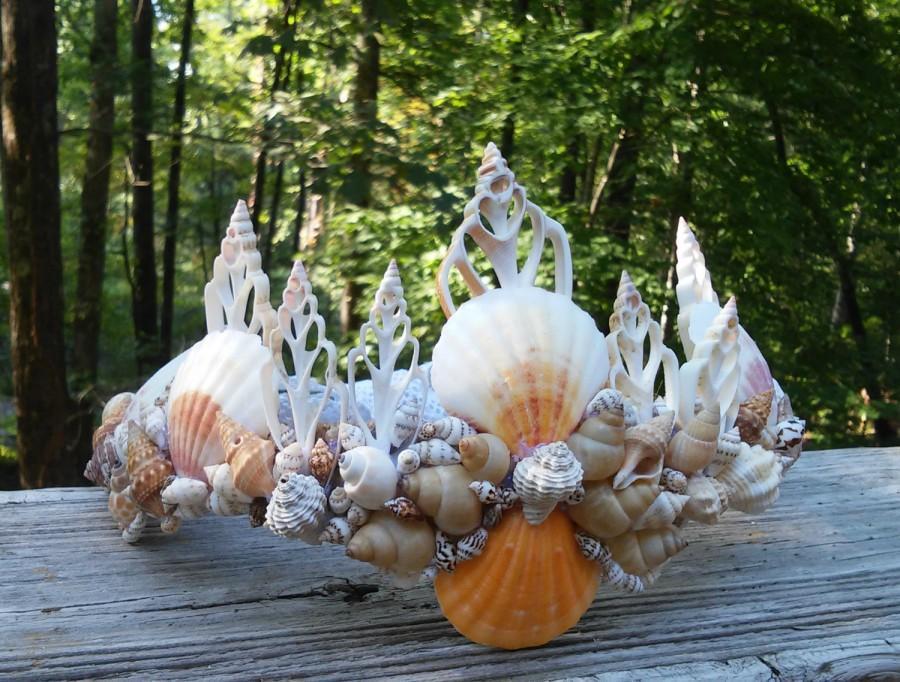 Свадьба - Mermaid crown, seashell crown, mermaid tiara, Mermaid headpiece, seashell crown, mermaid costume, seashell headpiece, child