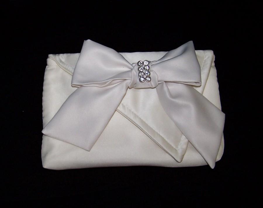 Wedding - Design It Yourself  Vanessa Clutch- bridal clutch, designer clutch, bridesmaids clutch, satin clutch, dressy clutch, dress up clutch,
