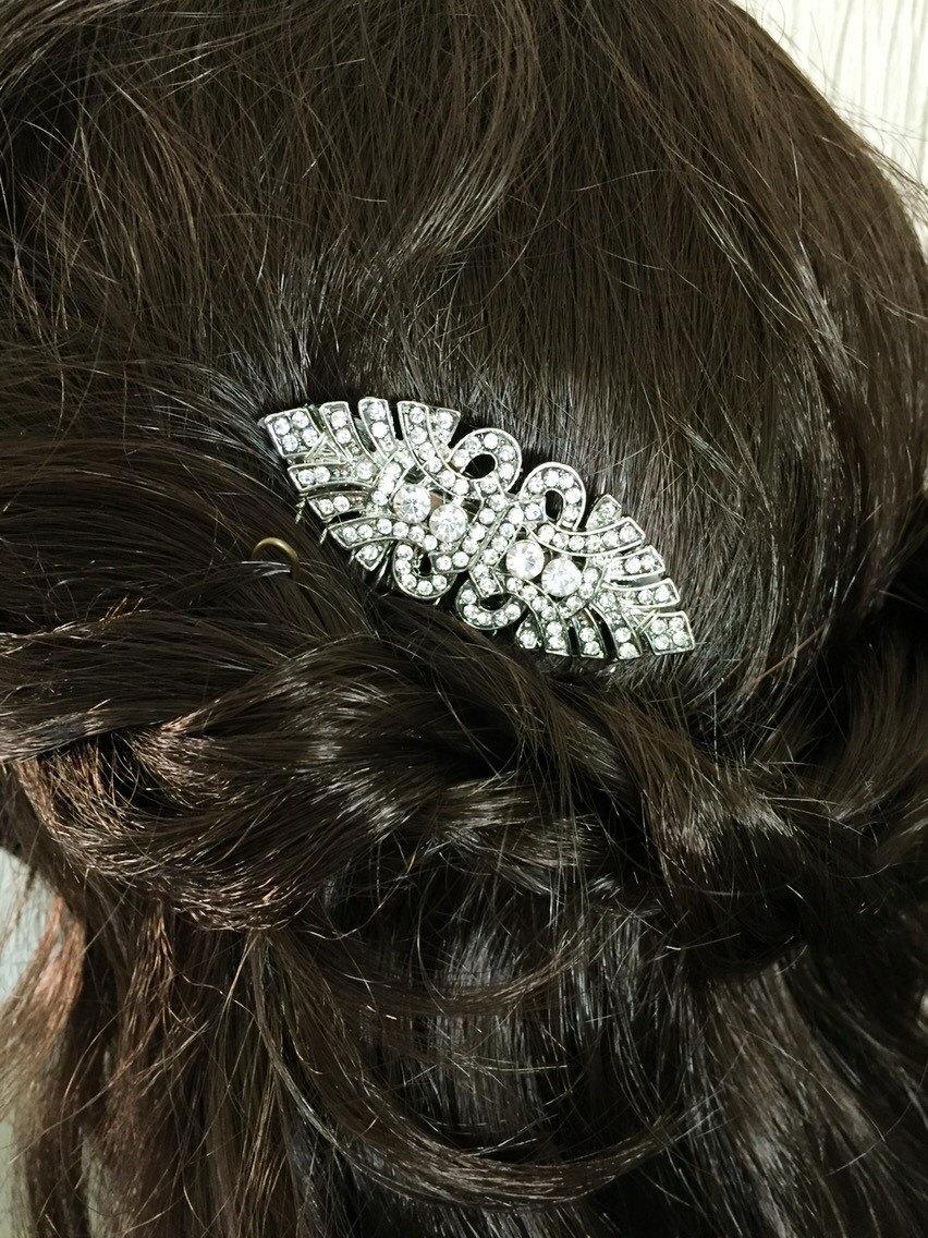 Свадьба - Bridal hair comb - Art deco hair comb - Vintage style hair comb - Wedding hair comb - Bridal Hair Accessories - wedding headpiece