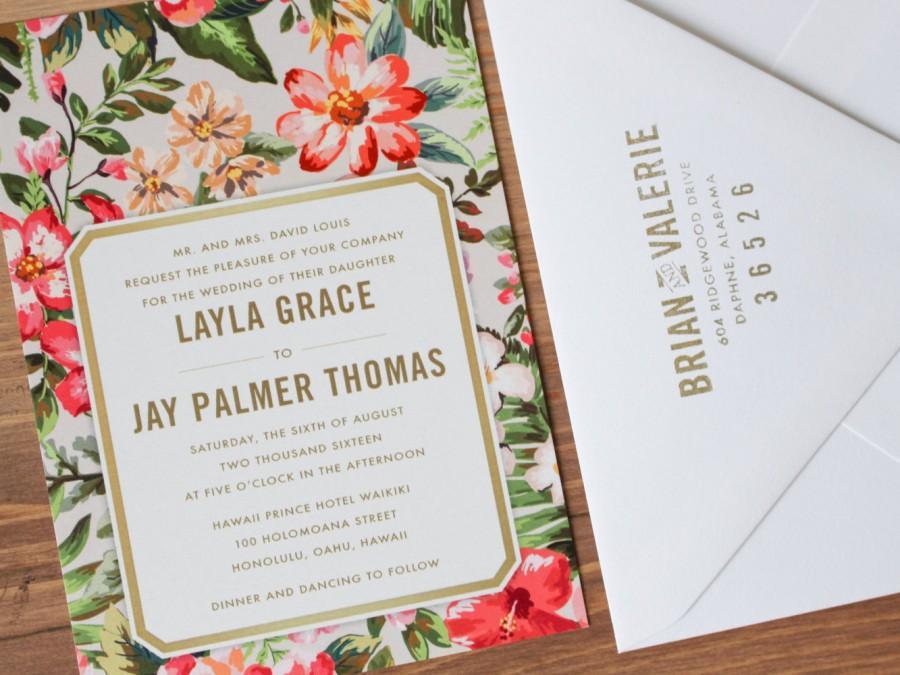 زفاف - Tropical Destination Wedding Invitation
