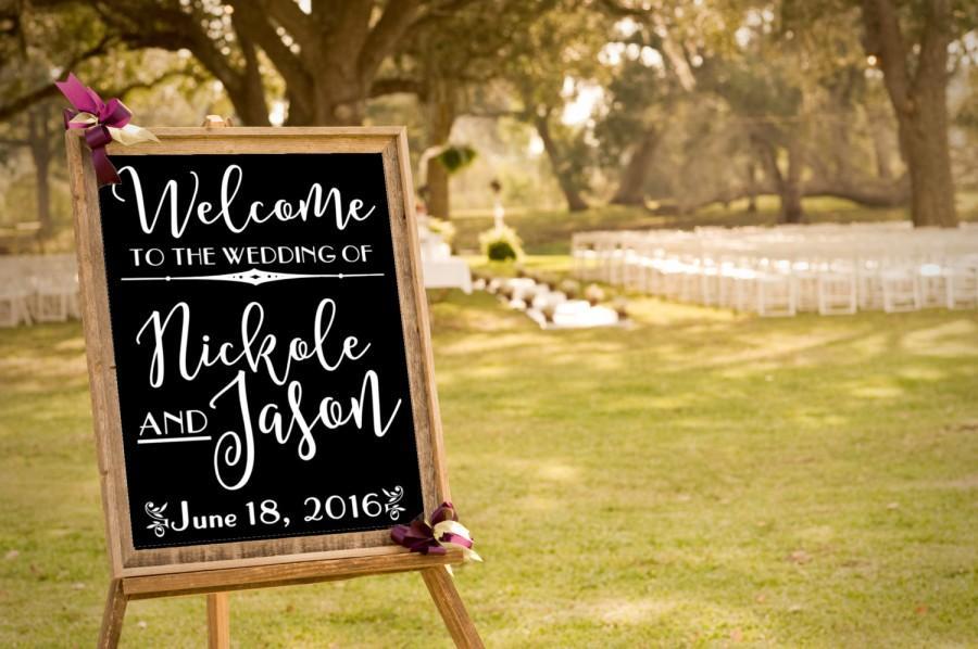 Custom wedding decal wedding welcome sign art deco wedding decor decal sticker only 1920 style wedding diy bride craft
