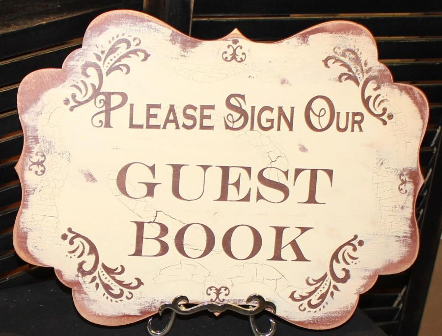 Mariage - Wedding Sign Guest Book Sign/Please Sign Our/Photo Prop/U Choose Colors/Great Shower Gift