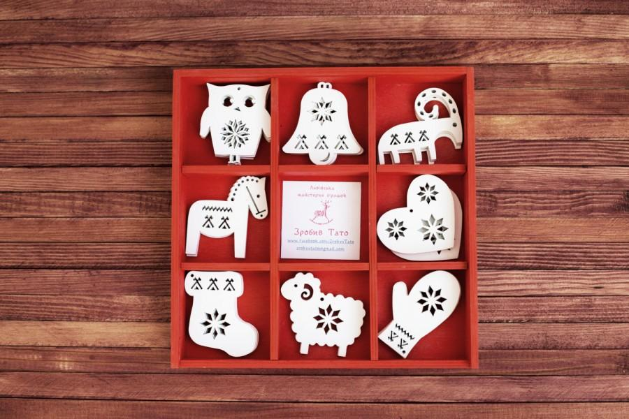 wooden animals ornaments wood christmas decoration unique christmas tree ornaments christmas gift christmas ornament set of 24