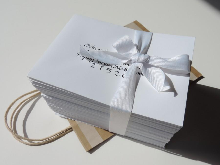 Свадьба - Wedding Envelope Recipient Address Handwritten Calligraphy