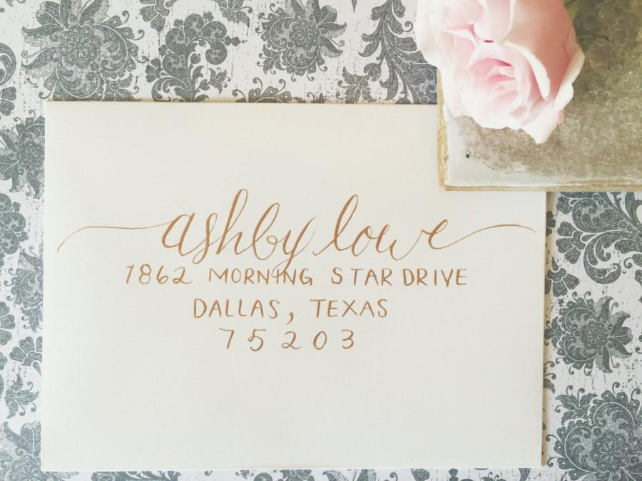 Свадьба - ASHBY Layout / Wedding Calligraphy Envelope Addressing / Hand Written / Tier 2 Layout