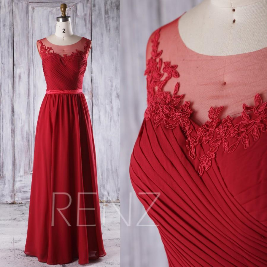 b5054f2bab4 2016 Burgundy Bridesmaid Dress Long
