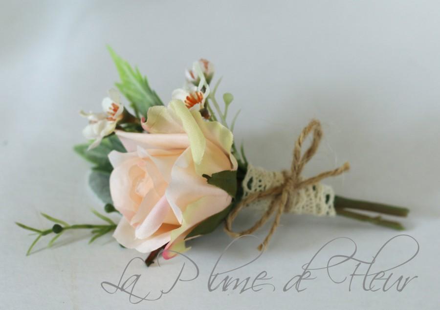 liam - men's buttonhole / boutonniere - vintage, country garden