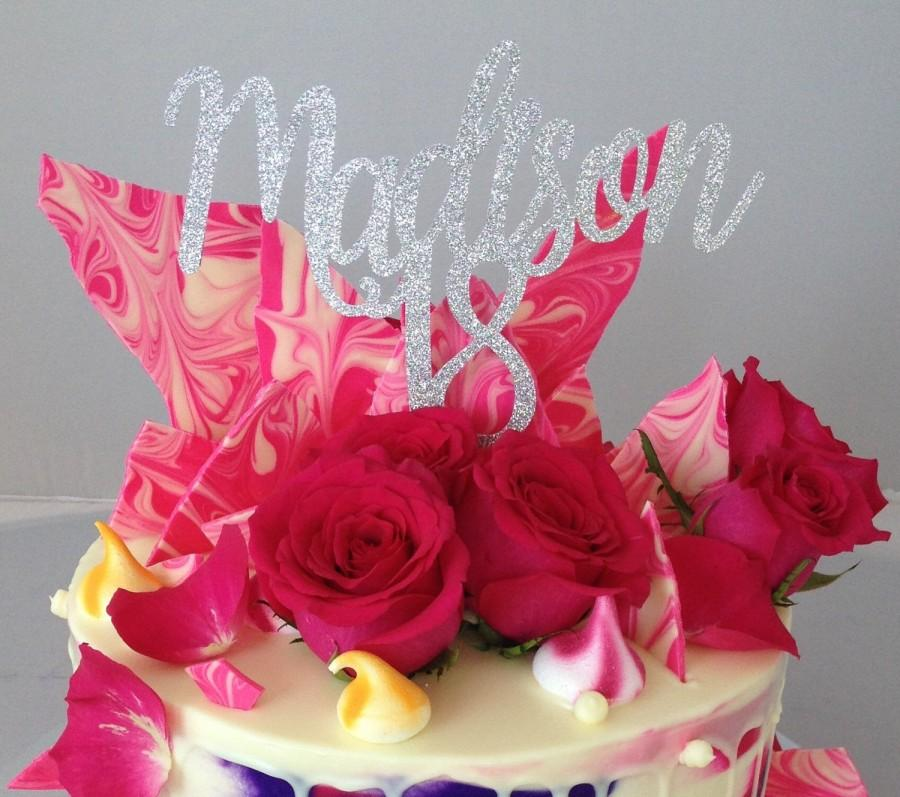 Name Cake Topper Personalised Age Number Birthday 18th