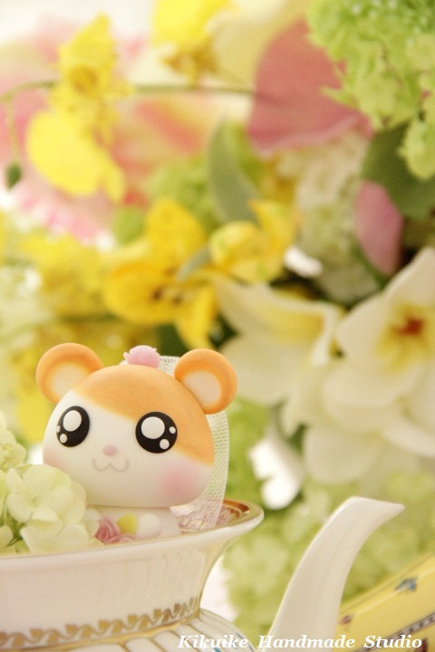 Wedding - hamster and raccoon Wedding Cake Topper---k765