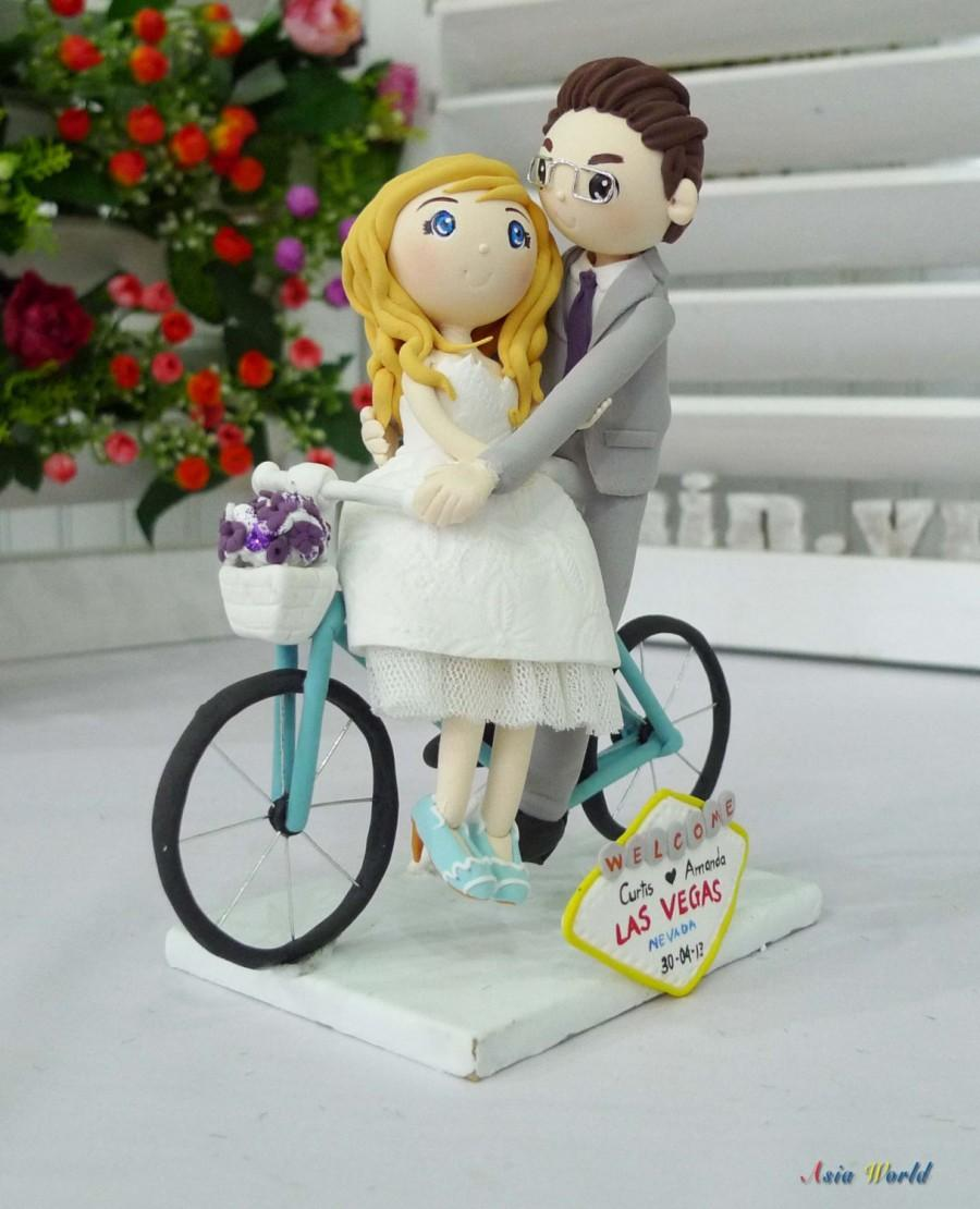 Wedding Cake Topper Wedding Clay Couple In Las Vegas With