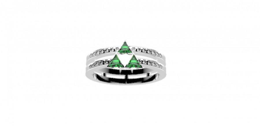 Zelda Triforce Inspired Engagement Ring Nintendo Video Game Wedding