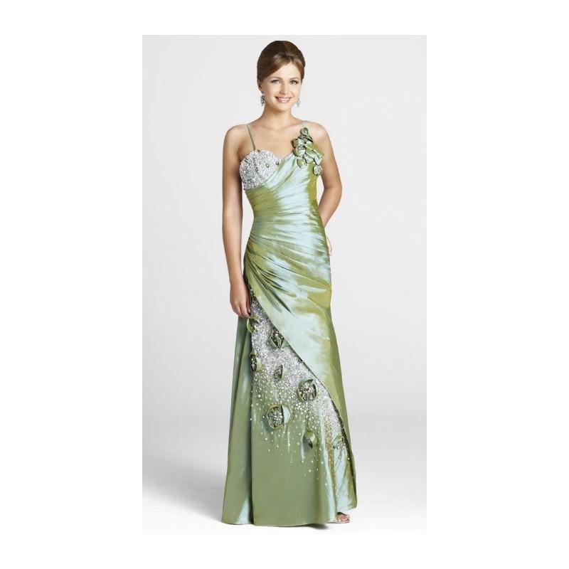 Olive Beaded Taffeta Blush Prom Dress 9256 With Flowers - Brand Prom ...