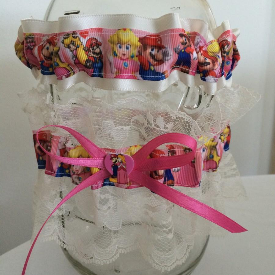 زفاف - Super Mario Princess Peach Luigi Wedding Garter Geek Nerd